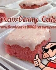 Strawberry Cake with Strawberry Cream Cheese Icing