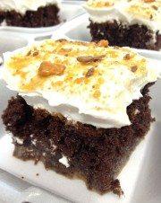 Butterfinger Cake Sliced
